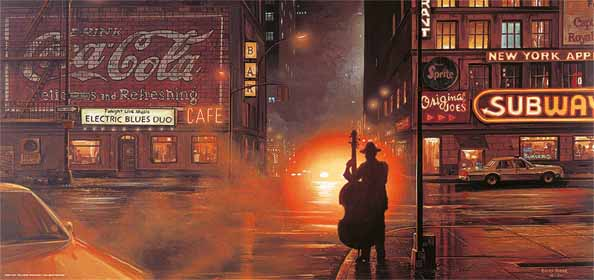 Blues Cafe 33 x 70 cm