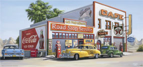 Road Stop Service 33 x 70 cm