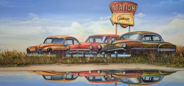 Station Garage 33 x 70 cm